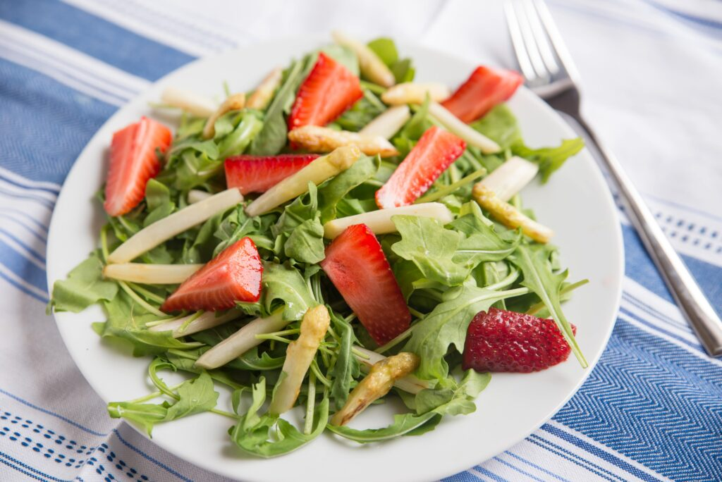 Serviervorschlag: Spargel Salat